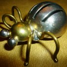 BEAUTIFUL SILVER .925 TP-65 BITTLE BUG PIN BROOCH MEXICO