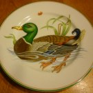 FITZ & FLOYD CANARD SAUVAGE GREEN MALLARD WHITE BODY DUCK DECORATIVE PLATE JAPAN