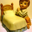 CHARMING BISQUE PORCELAIN HOMCO FIGURINE BEDTIME PRAYER KNEELING BOY PRAYING