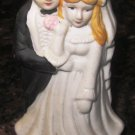 CLASSICAL PORCELAIN BRIDE AND GROOM CAKE TOPPER