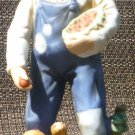 VINTAGE PORCELAIN HOMCO FARMER WITH APPLES AND SQUIRREL #1409