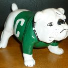 CERAMIC FIGURINE SPORTS MEMORABILIA BULLDOG GREEN 'C'