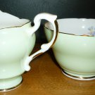VINTAGE 40'S JAS I.TAYLOR LTD FINE BONE CHINA OPEN SUGAR & CREAMER SET 'DAINTY'