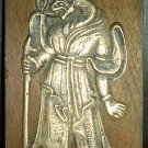VINTAGE BRASS ON WOOD WALL PLAQUE ZODIAC REPLICA GENERAL KIM YU-SHIN'S TOMB KOREA