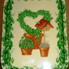 BEAUTIFUL PAINTED TIN TRAY FOR GARDENNING LOVER WITH GRAPE VINE