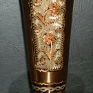 GORGEOUS COPPER ETCHED CONVOLUTED EDGES VASE BUD