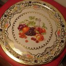 GORGEOUS TIN DAHER VINTAGE SERVER TRAY FRUITS AND WINE STYLE ENGLAND