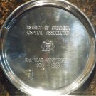 KIRK PEWTER ROUND TRAY REINFORCED BOTTOM ENGRAVED
