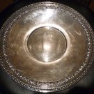 """REED AND BARTON SILVERPLATE ORNATED SCROLL EDGE PLATTER 10.5"""" #1201 ESPN"""