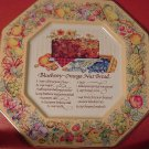 VINTAGE AVON TIN TRAY 'BLUEBERRY-ORANGE NUT BREAD' RECIPE 1982