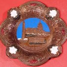 VINTAGE HANDHAMMERED WASHINGTON, DC COPPER DECORATIVE WALL PLATE