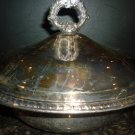 VINTAGE SHERIDAN SILVER ON COPPER SILVERPLATE LIDDED SERVING SHUFING DISH