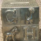 VINTAGE SILVERPLATED ALPHABET BLOCK COIN BANK GORHAM CHILD ROOM DECOR