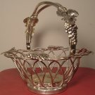 VINTAGE SILVERPLATED GODINGER FRUIT WIRE BASKET GRAPES DESIGN BEAUTIFUL