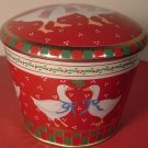 VINTAGE TIN COOKIE BOX DUCKS BY MEISTER IN BRAZIL