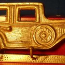 VINTAGE UNIQUE BRASS WALL MOUNT OLDIE CAR 3 KEYS HOOK