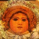 ORIGINAL ART PAINTING GIRL ON VINTAGE PORCELAIN RADISSON WS GEORGE PLATE 1598