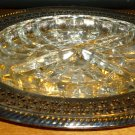 INTERNATIONAL SILVER COMPANY GLASS RELISH DISH W/SILVERPLATE TRAY WEBSTER WILCOX