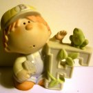 CHARMING BUNNYKINS PORCELAIN FIGURINE 'F' FOR FROG BOY
