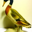 VINTAGE PORCELAIN BISQUE MALLARD DUCK FIGURINE HAND PAINTED