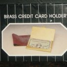 POLISHED BRASS CREDIT CARD BUSINESS CARD HOLDER NMB