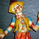 CHARMING VINTAGE RESIN DRUNKEN CLOWN HARD PLASTIC VIVID COLORS ITALY 8""