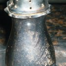 VINTAGE ANTIQUE SALT OR PEPPER SILVERPLATED FOOTED SHAKER EP COPPER ENGLAND 3""