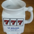 PORCELAIN COFFEE TEA MUG 777 JACKPOT WILCOX FBI USA SET OF 2 BACHELOR/BACHELORET