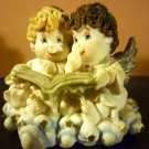 CHARMING FIGURINE ANGELS CHERUBS READING BOOK HEAVEN BUNDLES PETER & PAULETTE
