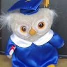 """SOFT WISE OWL GRADUATION HUMOROUS DOLL 8"""" WITH SURPRISE"""
