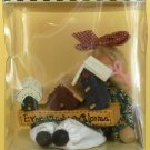 """CHARMING COLLECTIBLE WOODEN CLOTHPIN DOLL BETSY CLARA'S CUPBOARD 4"""" NB"""