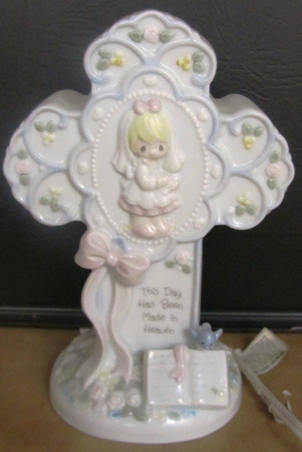 PRECIOUS MOMENTS CROSS PORCELAIN NIGHT LIGHT 93 THIS DAY HAS BEEN MADE IN HEAVEN