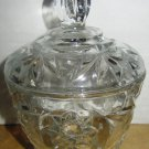 BEAUTIFUL ANCHOR HOCKING STAR OF DAVID DESIGN SUGAR BOWL WITH LID