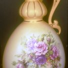 STUNNING ANTIQUE AMPHORA PITCHER TURN-TEPLITZ ROSES EDGE GOLD HANDPAINTED
