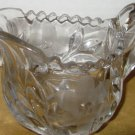 GORGEOUS LEAD CRYSTAL CREAMER MILK PITCHER ETCHED FLOWERS