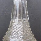 VINTAGE CLEAR GLASS ANCHOR HOCKING WEXFORD DECANTER HEXAGONAL ART DECO BUBBLE