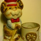 CHARMING PORCELAIN JASCO TOOTHPICK CANDLE HOLDER CHIPMUNK BY LUVKIN CRITTERS