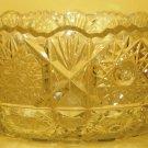 STUNNING VINTAGE BOHEMIAN CUT CRYSTAL GLASS FRUIT BOWL CENTER PIECE STARS BURST