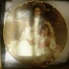 CHARMING LIMOGES PORCELAIN GIRLS SISTERS L'ETOILE PLATE IN ORIGINAL BOX FRANCE