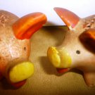 CHARMING VINTAGE PORCELAIN PIGS SALT & PEPPER SHAKERS JAPAN
