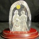 GORGEOUS CRISTAL D'ARQUES FRANCE CAROLERS GENUINE LEAD CRYSTAL 3D ART FIGURINE