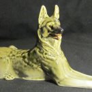 GORGEOUS VINTAGE LOMONOSOV USSR FACTORY PORCELAIN GERMAN SHEPHERD FIGURINE