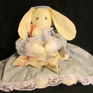 VINTAGE PILLOW DOLL HANDMADE BY OZARK MOUNTAIN CRAFTS BUNNY