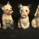 CHARMING PUPPY DOG MINIATURE FIGURINE SET/6 POODLE BASSET MALTESE BOXER SPANIEL