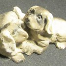 ADORABLE MINIATURE BASSET HOUND PUPPIES DOG FIGURINE