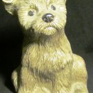 CUTE PAINTED CERAMIC PUPPY DOG FIGURINE