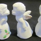 ADORABLE VINTAGE ENESCO KISSING ANGELS WITH CHRISTMAS HOLY SET OF 3