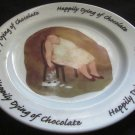 ERICA OLLER 2000 ORIGINAL ARTWORK HAPPILY DYING OF CHOCOLATE DESERT PLATE