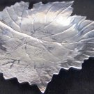 BEAUTIFUL MAPLE LEAF SHAPED PEWTER CANDY DISH PLATTER AR INDIA