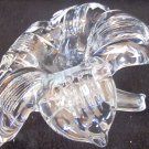 VINTAGE SILVESTRI VINTAGE CLEAR CRYSTAL BLOWN GLASS FLOWER FIGURINE